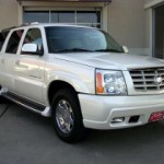 Cadillac escalade black white